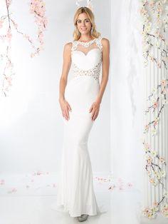 Halter Front V Back Bridal Dress with Court Train | Cinderella Divine