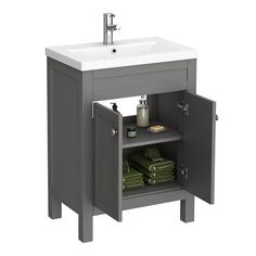 Simple Solutions To Problems With Your Plumbing – Plumbing Grey Vanity Unit, Basin Vanity Unit, Basin Unit, Vanity Units, Washroom Vanity, Vanity Cabinet, Grey Bathroom Furniture, Hand Painted Furniture, Heating And Plumbing