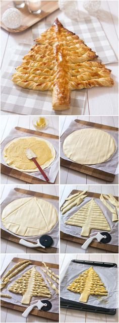 Galette des rois façon sapin feuilleté Christmas Buffet, Christmas Sweets, Recettes Anti-candida, Sweets Recipes, Cooking Recipes, Funny Cake, No Cook Meals, Cake Cookies, Holiday Recipes