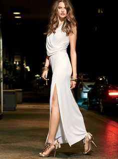 Fit for a fashion goddess: the Drape-front Maxi Dress from Victoria's Secret. Sexy Summer Dresses, Dresses For Sale, Sexy Dresses, Fashion Dresses, Bride Dresses, Dresses Online, Night Outfits, Dress Outfits, Dress Up