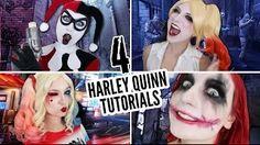harley quinn make up - YouTube