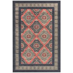 """Grand Bazaar Power Loomed Viscose Azize Rug in Cream/Charcoal 5'-3 X 7'-6"""" (""""Cream Chocolate), Brown, Size 5' x 8'"""