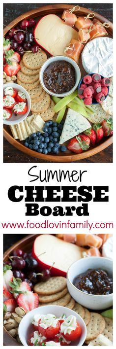 Wow your summer guests with a summer cheeseboard. Step by Step in how to create a beautiful cheeseboard. #ad #GloriaFerrer #CLVR @GloriaFerrer