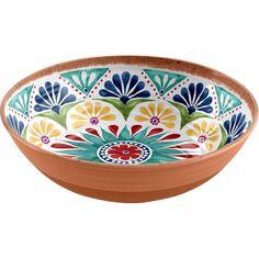 Life Happens Rio Medallion Low serving bowl set with 1 piece Pottery Painting, Ceramic Painting, Ceramic Art, Ceramic Lantern, Ceramic Bowls, Crackpot Café, Keramik Design, Grands Vases, Serving Bowl Set