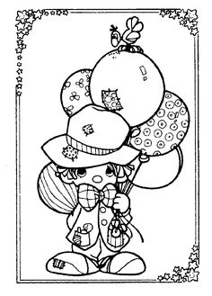 Precious Moments Clowns Colouring Pages Free Printout