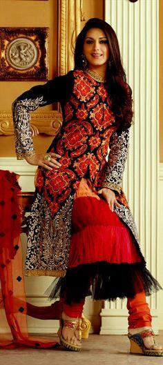 402583: Sonali Bendre modeling Anarkali with long Jacket over-all. #GetThisLook
