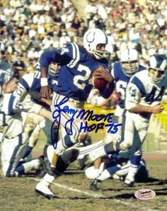 """Authentic Hand Signed Action Colts Lenny Moore Inscribed """"HOF X-Cart: full-featured PHP/MySQL shopping cart software & ecommerce solutions for the best ecommerce websites Arena Football, Sport Football, Football Players, Baltimore Colts, Indianapolis Colts, Nfl Hall Of Fame, Football Memorabilia, Boston Sports, Sports Figures"""