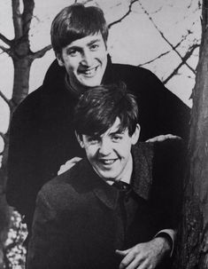 ♡♥John Lennon and Paul McCartney smile - click on pic to see a full screen pic in a better looking black background♥♡