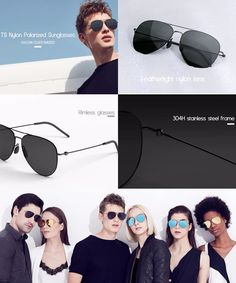 Xiaomi TS UV à prova de nylon óculos polarizados $ 39.99  Este Xiaomi TS Nylon polarizada Sunglass é 100% à prova de UV e à prova de raios nocivos. Adota o filme polarizador do Japão, que pode filtrar o brilho, dispersão de luz, ea luz refratada para reduzir a fadiga para tornar a visão mais clara.  Características  100% à prova de UV e à prova de raios nocivos. Leve e resistência ao choque. filme polarizado, que pode filtrar o brilho, de dispersão de luz e luz refractada. quadro Edgeless