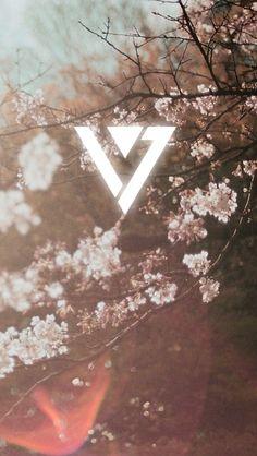 BTS background with exo logo😍 Shinee, Kpop Backgrounds, Wallpaper Backgrounds, Kpop Iphone Wallpaper, Wonwoo, Jeonghan, Seungkwan, Vernon, K Pop