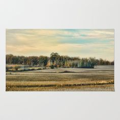 Autumn Fields - Landscape Area & Throw Rug by Jai Johnson - $28.00 Throw Rugs, Fields, Vineyard, Autumn, Landscape, Painting, Outdoor, Art, Outdoors