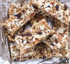 Delicious and healthy Almond Raisin Granola Bars are naturally sweetened with dates and super easy to make at home! Find the recipe on www.cookwithmanali.com
