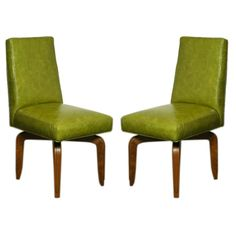Green Leather Dining Chairs - Home Furniture Design Dining Chairs For Sale, Leather Dining Chairs, Dining Room Chairs, Vintage Furniture, Home Furniture, Furniture Design, Green Leather, Home Accessories, Accent Chairs