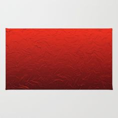 Red Passion Area & Throw Rug by Saundra Myles - $28.00