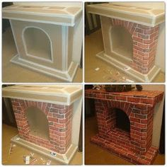 Inexpensive Concrete Fireplace Remodel Ideas - 5 Creative Clever Tips: Rustic Fireplace Wall corner fireplace entertainment center. Simple Fireplace, Fake Fireplace, Concrete Fireplace, Fireplace Ideas, Craftsman Fireplace, Fireplace Wall, Painting Fireplace, Fireplace Outdoor, Limestone Fireplace