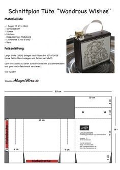 Stampin Up - Weihnachten - Verpackung - Embossing - Wondrous Wishes Schnittplan