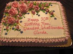 Exclusive Photo of Birthday Cakes Birthday Cakes Birthday Cake Sayings Wedding Academy Creative Decorating Grandma Birthday Cakes, Grandma Cake, Funny Birthday Cakes, Birthday Cake With Photo, Birthday Sheet Cakes, Birthday Cake With Flowers, Mom Cake, 90th Birthday Parties, Adult Birthday Cakes