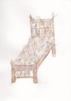 My Bed when I was 12 Bed, Illustration, Artwork, Artist, Pink, Work Of Art, Rose, Stream Bed, Auguste Rodin Artwork