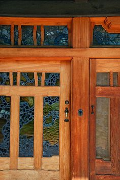 would be amazing to have craftsmanship like this! Gamble House - front doors by heinrick05, via Flickr
