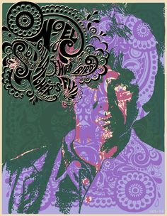 2012 Noel Gallagher's High Flying Birds screen-printed gig poster Ohio