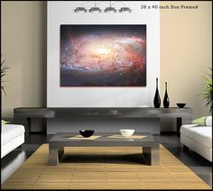 Heic Galaxy Print Canvas Wall Art Large by TreoLifeCanvasArt