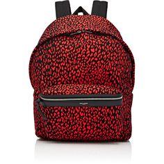 Saint Laurent Men's Zip-Pocket Backpack ($950) ❤ liked on Polyvore featuring men's fashion, men's bags, men's backpacks, red and mens backpacks