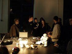 CIT discussing :) Intelligent Technology, Tea Lights, Night