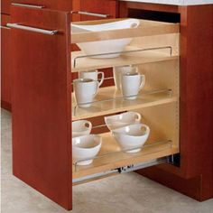 Rev-A-Shelf: Take your kitchen cabinet organization to a new level with the Wood Pull-Out Cabinet Organizer For Kitchen Cabinets by Rev-A-Shelf. Kitchen Cabinet Organization, Bathroom Organisation, Kitchen Storage, Storage Spaces, Cabinet Organizers, Cabinet Storage, Pantry Storage, Cabinet Ideas, Closet Storage