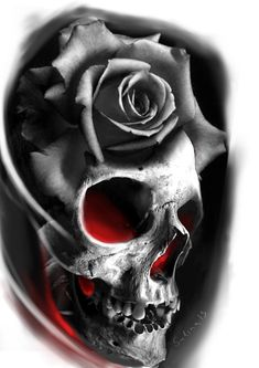 Skull Tattoo Flowers, Skull Rose Tattoos, Skull Sleeve Tattoos, Rose Tattoos For Men, Body Art Tattoos, Hand Tattoos, Tattoos For Guys, Cool Tattoos, Tattoo Design For Hand