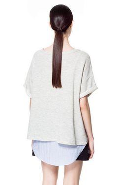 Image 3 of COMBINATION SWEATSHIRT from Zara