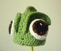 Crochet Pascal the Chameleon Hat  Cartoon Costume by bitteroclock, $43.00