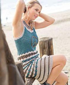 ergahandmade: Crochet Dress + Diagrams + Free Pattern