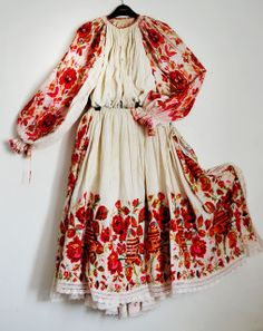 folk embroidered dress