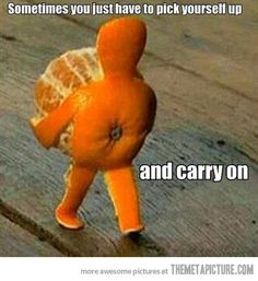 funny orange art little man
