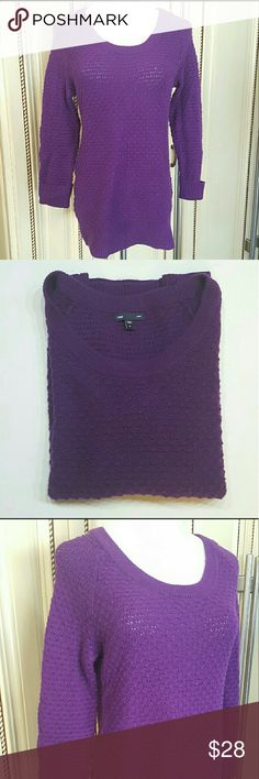 Gap 3/4 sleeve knit sweater Gap 3/4 sleeve knit sweater in great condition Gap  Sweaters