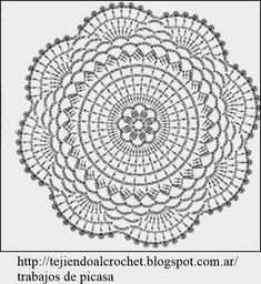 World crochet: Motive 12 Crochet Doily Diagram, Crochet Mandala Pattern, Crochet Circles, Crochet Stitches Patterns, Crochet Round, Crochet Squares, Thread Crochet, Filet Crochet, Crochet Granny