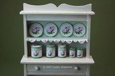 More than 50 Easy Miniature Projects to Make: Make Printable Miniature Kitchen Cannisters