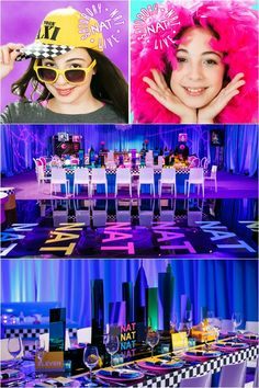 5 Ideas for a Name Theme - NYC Bat Mitzvah - Saturday Nat Live Party {Michael Jurick Photography} - mazelmoments.com