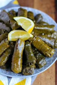 These Lebanese Stuffed Grape Leaves (Warak Enab) are made with a spiced ground beef and rice mixture - a delicious Mediterranean dish commonly served as an appetizer! Lebanese Recipes, Greek Recipes, Dolmas Recipe Greek, Syrian Recipes, Lebanese Cuisine, Healthy Ramadan Recipes, Healthy Snacks, Healthy Recipes, Gourmet