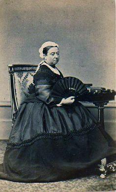 Queen Victoria in Widow's Weeds, Albumen Carte de Visite, Circa 1868 | Flickr - Photo Sharing!