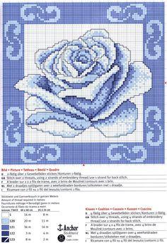 Sticken Kreuzstich Rose - cross stitch