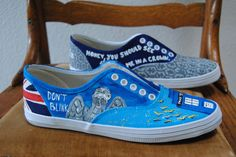 Doctor Who and Sherlock Shoes #paintedshoes