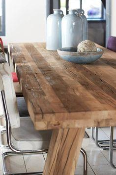 Oud eiken tafel Milaan 260x100cm €1799,-