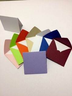 Small square envelopes with cards 2x2 by GreetingWithLove on Etsy