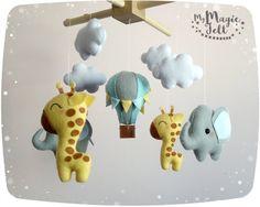 Giraffa ed elefante mobile del bambino Baby safari mobile
