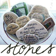 Diy afirmation stones