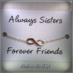 Sister bracelet Charm Bracelet Infinity by QberryCreations on Etsy, $5.00