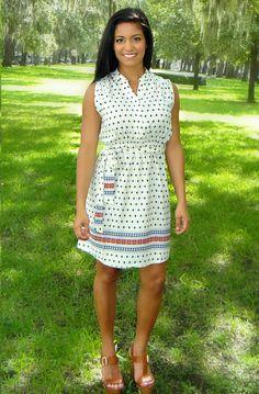 """Sunday Stroll"" Button Up Dress"