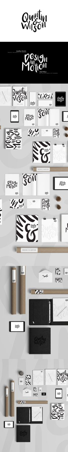 jonathan quintin and matt wilson got together to create a combination of graphic and motion design work, and the combo of their two strengths led to some pretty great branding. the font is playful but still so clean and beautiful.