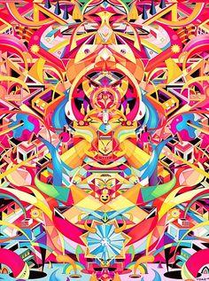 pop psyche art by yo az, via Behance